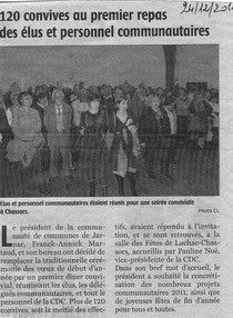 Article Charente Libre du 24/12/2010