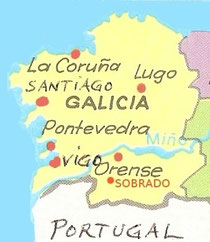 Galicienkarte