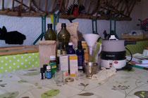 préparation atelier cosmétiques bio