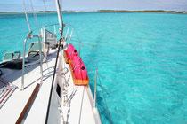 Les eaux turquoises des Bahamas