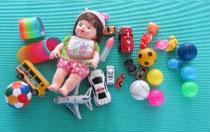 赤ちゃんが遊ぶおもちゃもご用意しております。