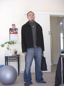 当時の僕。猫背・ガニ股・O脚・・・^^;