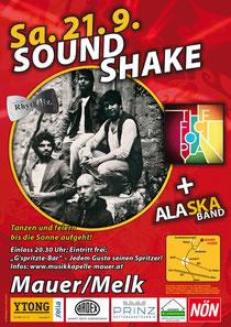 Samstag 21. 09. Sound Shake Tanzen und Feiern bis die Sonne aufgeht