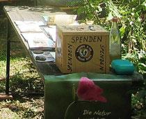 Unsere bekannte Spendenbox