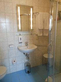 Jedes Zimmer mit Dusche/WC