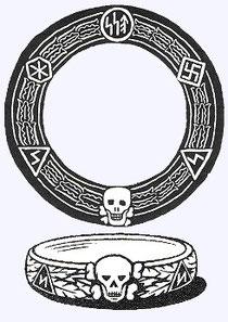 Der Totenkopfring des Wiligut/Weisthor, der von der SS genutzt wurde. Stichwort auch Ahnenerbe.