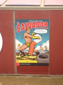 """El Salvador de la Platga: """"Sou una plaga però us eliminare""""."""
