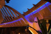 Kunstvoll beleuchtet: die Alexandra Arch
