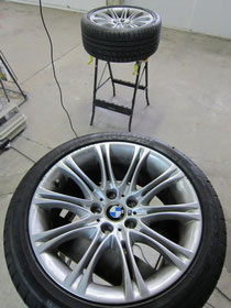 BMW525Mホイールガリ傷のリペア前写真