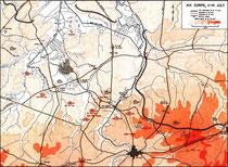 14. Juli - Frontlinie des XIX Army Corps