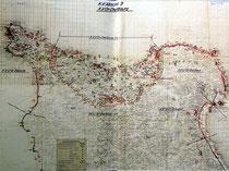 Die Cherbourg Landfront kurz vor dem Angriff des US VII Corps