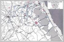 Vorstoß auf den Quineville Höhenzug, zweite  Phase, 12-14 Juni 1944