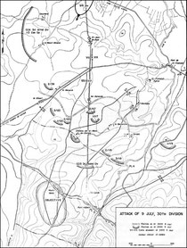 9. Juli - Angriff der 30th und 9th ID