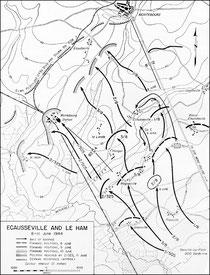 Ecausseville und Le Ham 8-11 Juni 1944