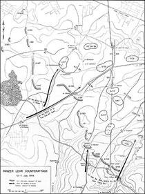 10. - 11. Juli Angriff der Panzer-Lehr-Division