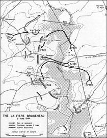 Brückenkopf bei La Fiere, 9. Juni 1944