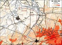 6. Juli - Positionen des US XIX Army Corps