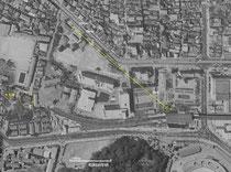 射撃場は戦没者慰霊霊苑・中央大学の地下を通る。