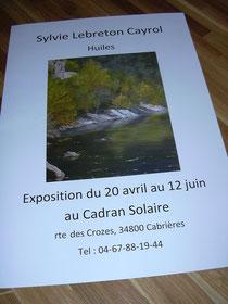 Sylvie Lebreton Cayrol expose au Caddran Solaire