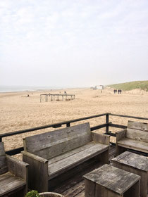View from the beach restaurant to the north