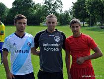 Herzlich Willkommen: Arber Bujupi, Arek Chluba, Bastian Mastafaoui
