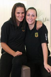 Kein Glück im Team und hoffen auf das 9-Ball-Einzel: Chantal Manske und Kristina Schagan.