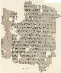 Frammento contenete il  papiro del Vangelo   Egerton