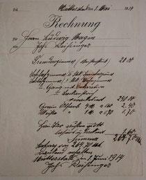 Rechnung - 1914
