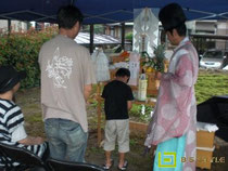 雨の地鎮祭