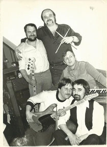 Gruppe IMPRESSION 1984 mit Hottel, Ronny, Lothar, Klaus und als Gast Eberhard Fischer