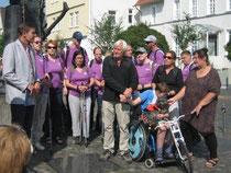 Bürgermeister Spogat empfängt Arnold Schnittger      (Foto:LAG-SBH)