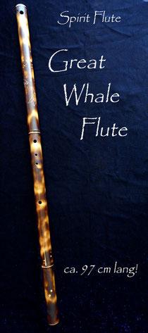 Great Whale Flute - Northern Lights Flutes - Spirit Flute - Wal Flöte aus Bambus