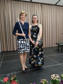 Mag. Zsuzsanna Litscher-Nagy, Andrea Papst, BScN (rechts)