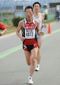 荒川市民マラソンで完走