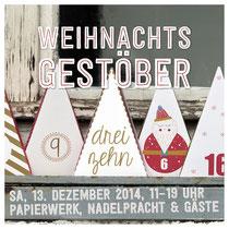 Weihnachtsgestöber-Leporello papierwerk, Nadelpracht + Gäste