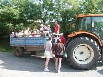 balade en tracteur remorque