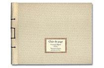 Couverture du livre Clair de page, de Yannick Charon