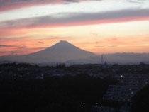 美しい夕焼け富士