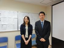 臨床試験支援室の福嶋さんと仲里先生