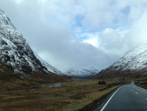 Driving through the magnificent Glencoe.