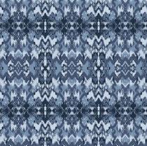 French-Terry-Sweat Ethno blau