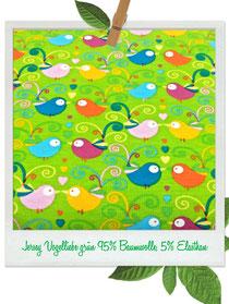Jersey Vogelliebe grün