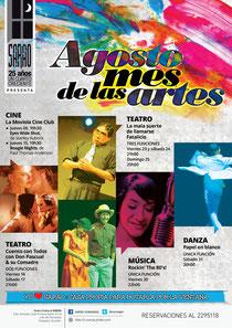 Agosto: Mes de las Artes. Diseño: Eduardo Correa Fotos: Amaury martínez, Héctor Maridueña y Jorge Loor