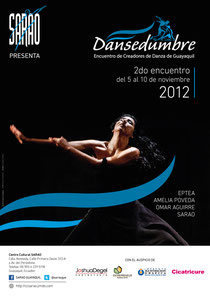 Afiche del II Encuentro 'Dansedumbre' 2012