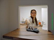 Drita Gjuraj, Mitinhaberin und Arbeitgeberin Reinigung medizinischer Einrichtungen wie Arztpraxis