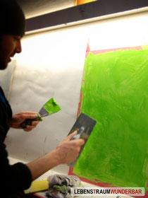 Walter - Lebenstraum Wunderbar - #Stucco #Putztechnik #Putz #Marmor #Optik #Kalk #Natürlich #Marble #Effect #Style #Making-Of #Green #Color #2013 #Farbe #Grün