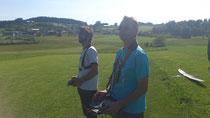 Johannes und Ich beim Lehrer-Schüler fliegen mit dem Twin Star ;-)