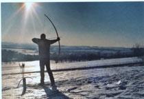 Winterliches Bogenschießen