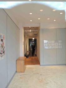 ギャラリー「サンコア」さん入口。丁度展示会が終了されたばかり。