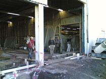 Hallenboden betonieren